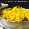 A Dish Of Indonesian Yellow Rice Called Nasi Kunyit