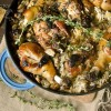 Aromatic Chicken & Mushroom Rice Cooked In A Cast Iron Pot