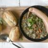 Die frankfurte Linsensuppe (Lentil soup from Frankfurt)