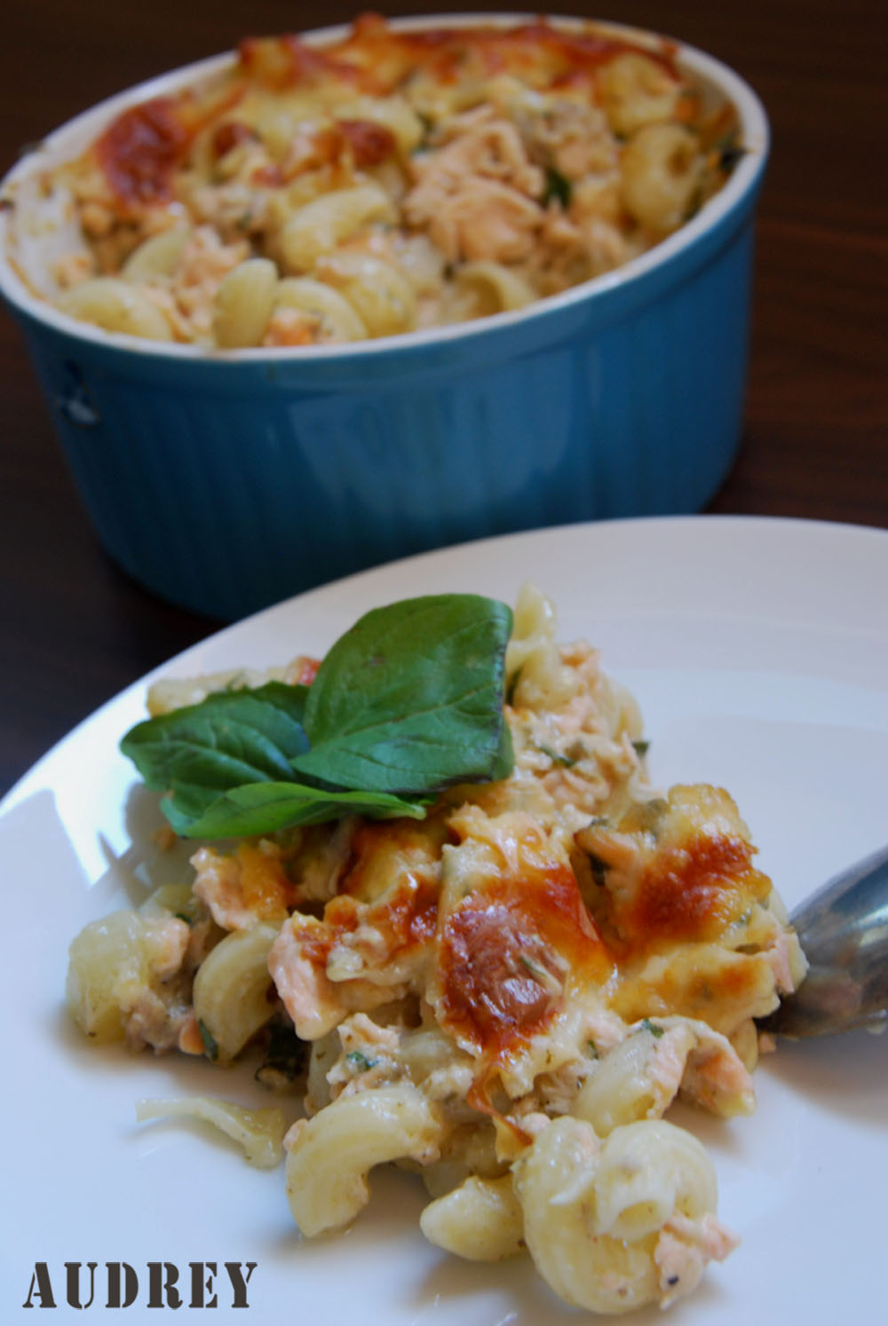 Baked Macaroni with Salmon and Clam Chowder 2