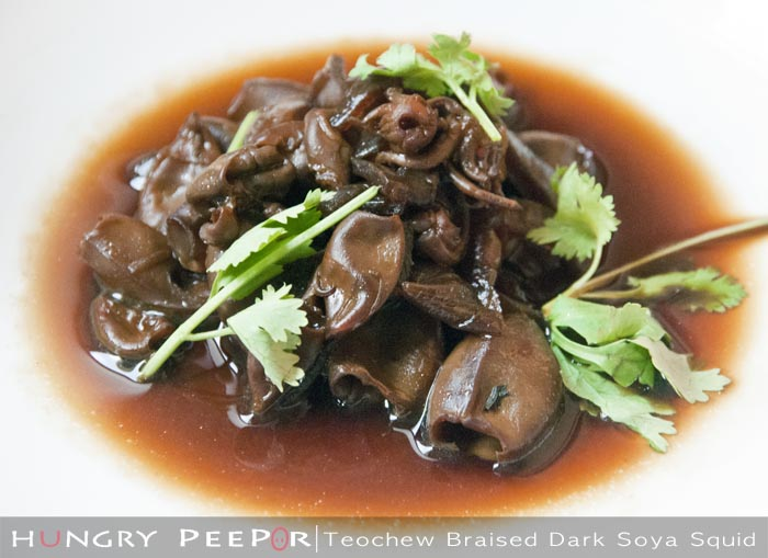 Teochew Braised Dark Soya Squid