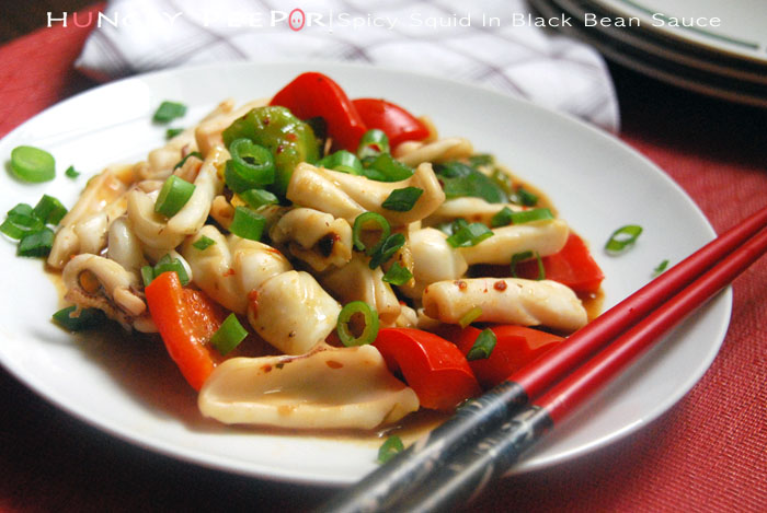 Spicy Squid In Black Bean Sauce 1