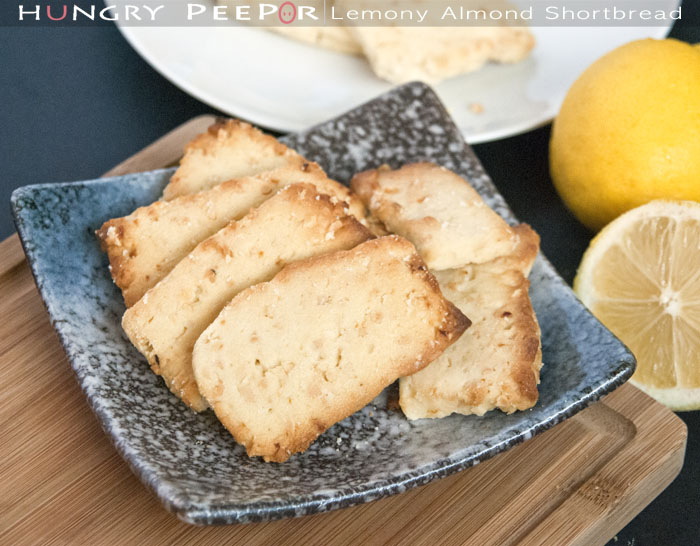 Lemony Almond Shortbread