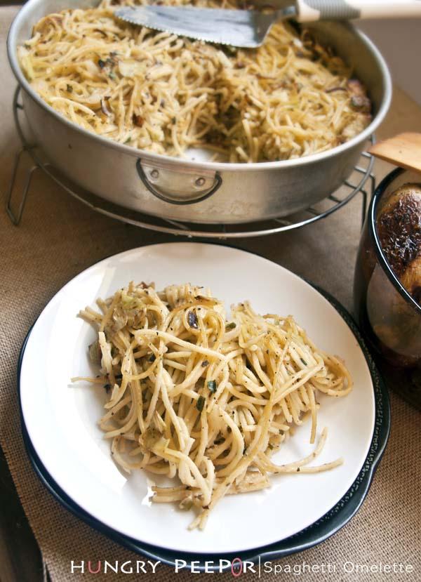 Spaghetti Omelette 3