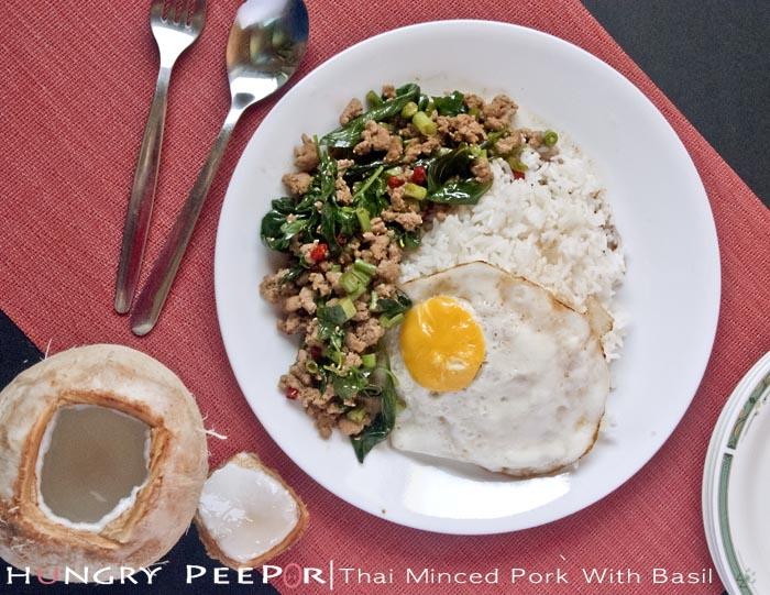 Thai Minced Pork With Basil 1