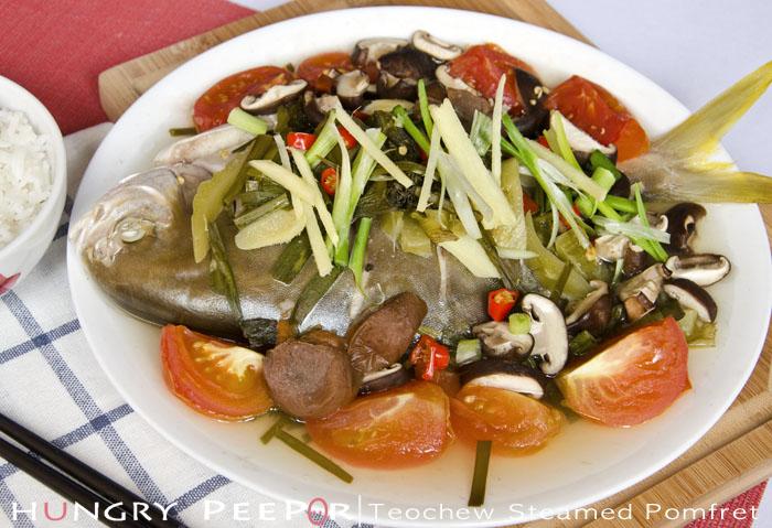 Teochew Steamed Pomfret 3