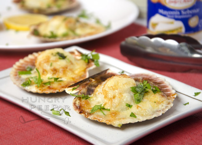 Baked Scallop With Cheese 3