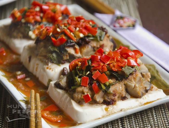 Steamed Tofu With Pork