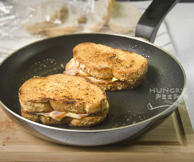 Grilled Eggy Ham & Cheese Sandwich 2