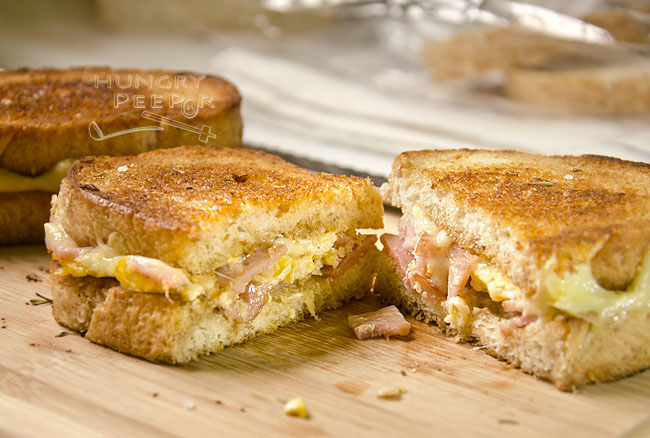 Grilled Eggy Ham & Cheese Sandwich 3