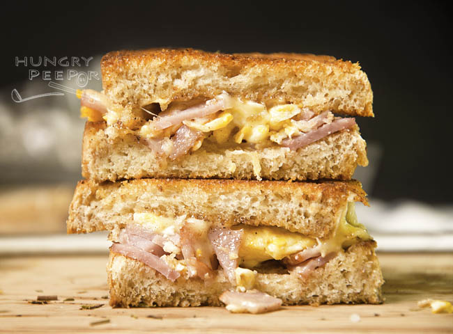 Grilled Ham And Cheese Sandwich The Eggy Way | Hungry Peepor