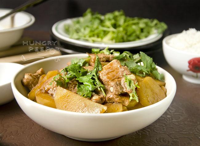 Stir-fry Potato & Pork