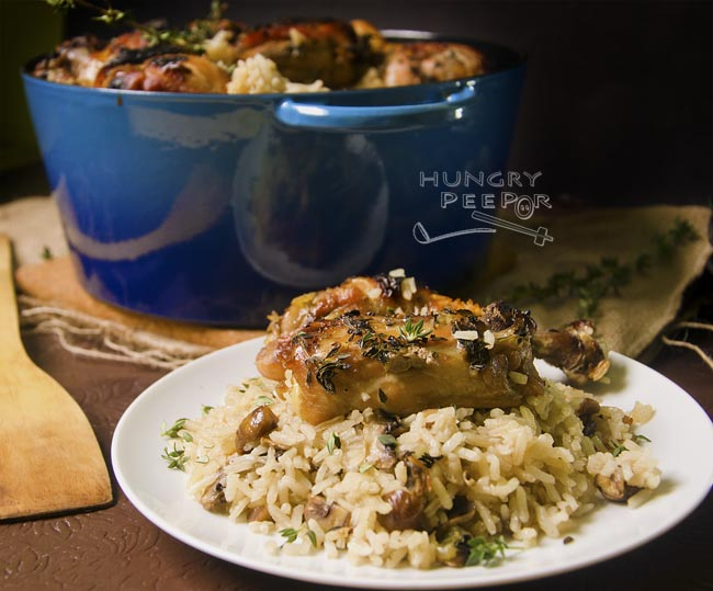 Cast Iron Chicken & Mushroom Rice 2