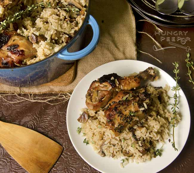 Cast Iron Chicken & Mushroom Rice 3