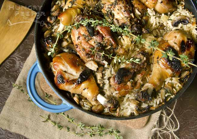 Cast Iron Chicken & Mushroom Rice
