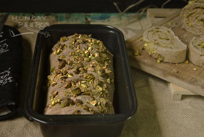 Rolled Wheat Pesto & Pistachio Bread 2