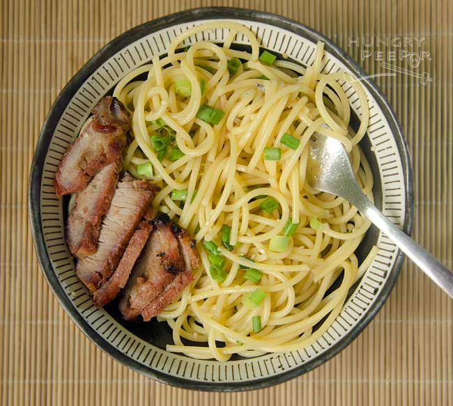 Sesame noodles with Char Siew 2