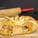 Bacon & Cheese Puff Pastry Wreath 2