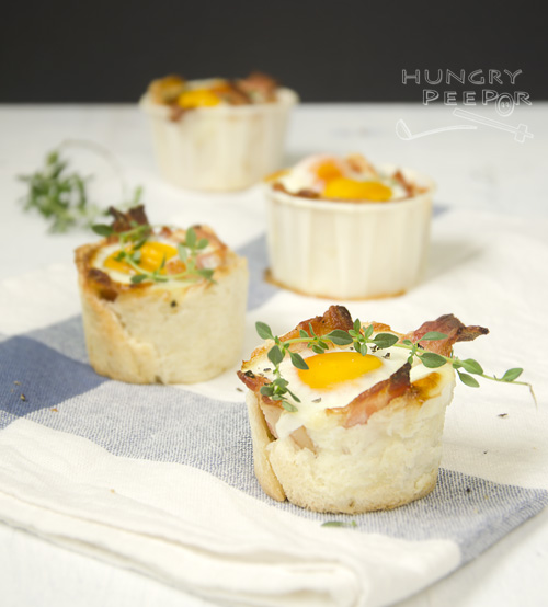 Breakfast Egg & Bacon Cupcake 3