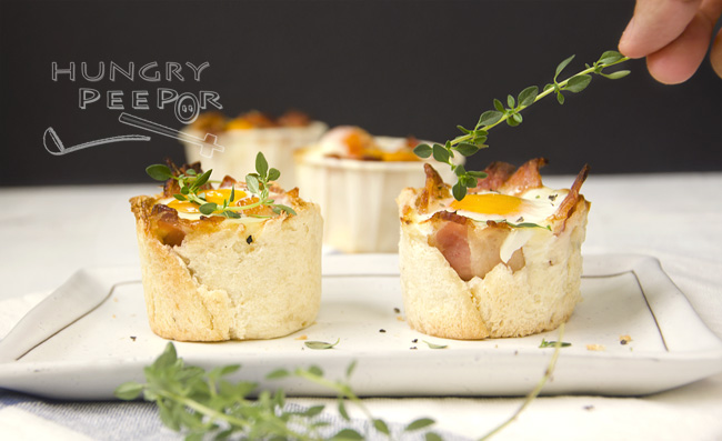 Breakfast Egg & Bacon Cupcake