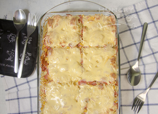 Baked Noodles with Cheese & Ham 3