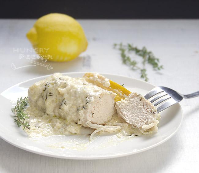 Skillet Chicken with Lemon Gravy