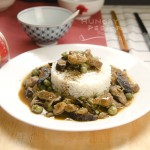 Chinese Green Peas With Pork & Mushroom Stir-Fry 2