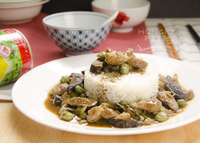 Chinese Green Peas With Pork & Mushroom Stir-Fry 3