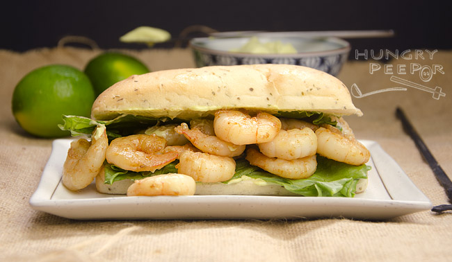 Shrimp with Avocado Mayo Sandwich