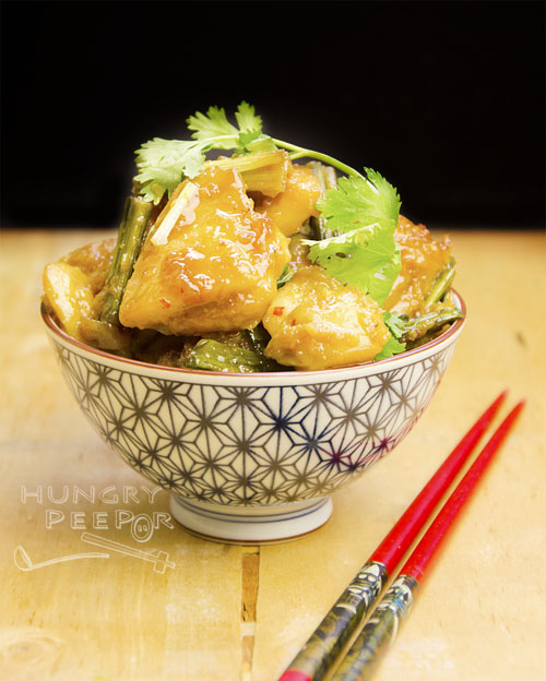 Pandan Stir-fry Chicken 2