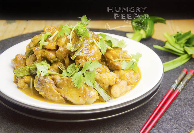 Pandan Stir-fry Chicken