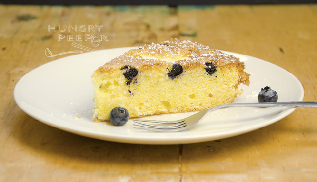 Peach & Blueberry Cake 2