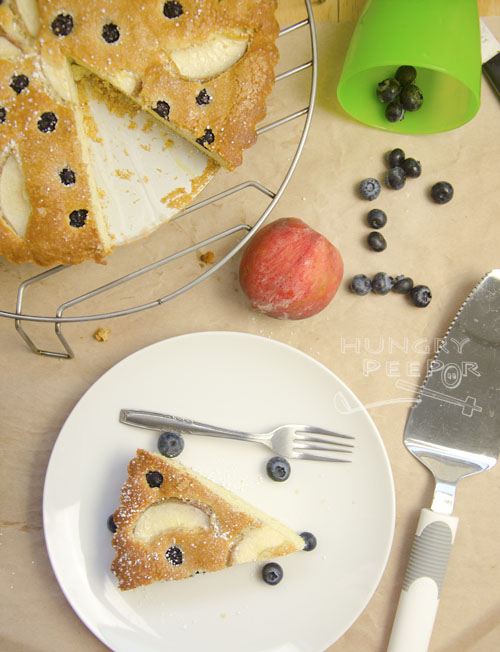 Peach & Blueberry Cake 3